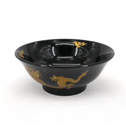 japanese noodle ramen bowl in ceramic Ø21cm GORUDORYÛ, golden dragon