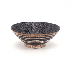 japanese noodle ramen bowl in ceramic Ø19,2cm KINRA, golden lines