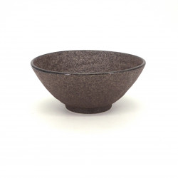 japanese noodle ramen bowl in ceramic Ø19,2cm SABI, brown