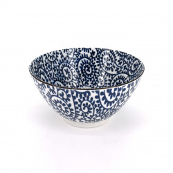 japanese soup bowl in ceramic, Ø16,9cm TAKOKARAKUSA, blue