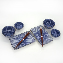 japanese set for sushi 6 pieces, TOCHIRI TOKUSA, patterns