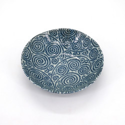 japanese bowl in ceramic Ø16.8x4,5cm TAKOKARAKUSA blue patterns