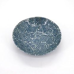 tazón de sopa japonés de cerámica Ø16.8x4,5cm TAKOKARAKUSA motivos azules