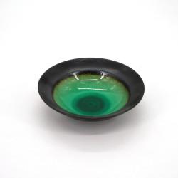 small japanese rice bowl in ceramic, LAGOON green