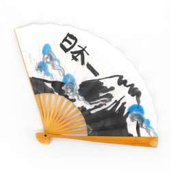 ventaglio giapponese in carta e bambù, FUJISAN, montagna