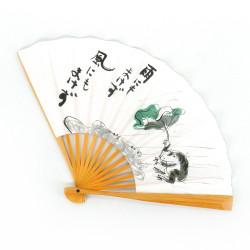 ventaglio giapponese in carta e bambù, KAERU, rana