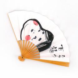 Japanischer Fächer aus Papier und Bambus, OKAME, Göttin