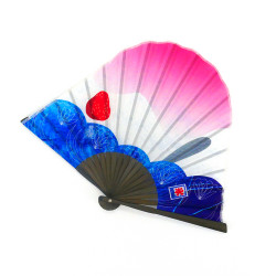 japanese fan shaped mont fuji, ICHIGO, pink and blue ice