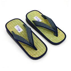 sandales japonaises zori paille de riz Goza, DOT, points