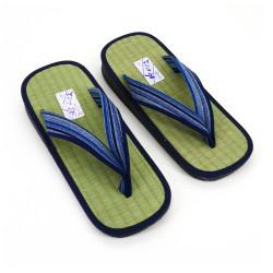 Giapponese sandali zori paglia di riso Goza, 2527, linee