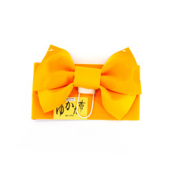 traditional japanese child's belt and knot, MUSUBI-OBI, yellow