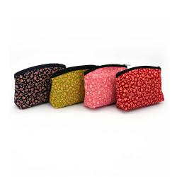 bolsa de maquillaje japonesa con motivos florales 17x12x4cm SAKURA