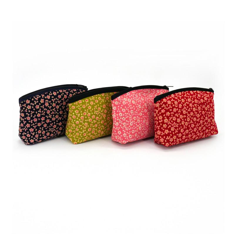 japanese makeup case floral patterns 17x12x4cm SAKURA