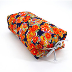 Japanese cushion stuffed with buckwheat pods, YUZEN