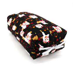 Japanese cushion stuffed with buckwheat pods, MANEKINEKO