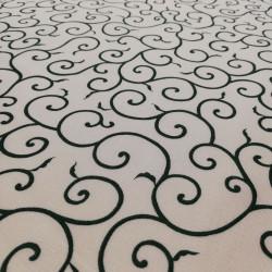 tissu bleu japonais en coton motifs spirales fabriqué au Japon largeur 110 cm x 1m
