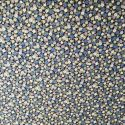 Blue Japanese cotton fabric with flowers made in Japan width 110 cm x 1m