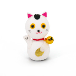 poupée japonaise okiagari, MANEKINEKO, chat blanc