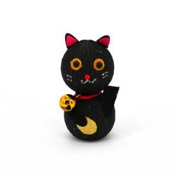 poupée japonaise okiagari, MANEKINEKO, chat noir