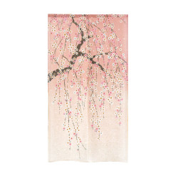 Japanese curtain NOREN, Pink cherry tree