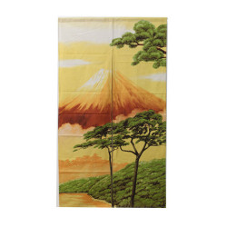Japanese curtain NOREN, Mount Fuji and Pine Landscape