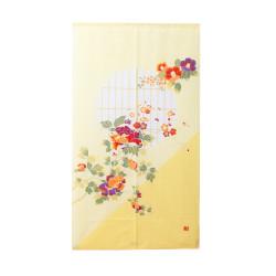 Japanese curtain NOREN red FUJI - Hokusai