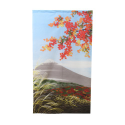 Japanese curtain NOREN, Fuju Landscape and maple tree