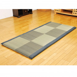 Traditional Japanese rice straw mattress, foldable - SHIKIBUTON, black, 90x200cm
