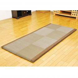 Traditional Japanese rice straw mattress - SHIKIBUTON, brown, 90x200cm