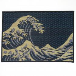 table set in Goza, Hokusai, NAMIFUJI.