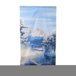 Tenda giapponese NOREN, paesaggio del Monte Fuji e neve.