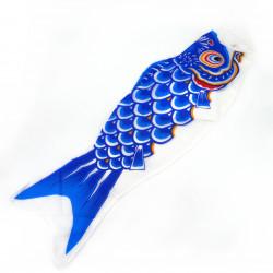 manga de viento en forma de carpa koi azul KOINOBORI
