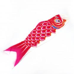 manga de viento en forma de carpa koi roja KOINOBORI