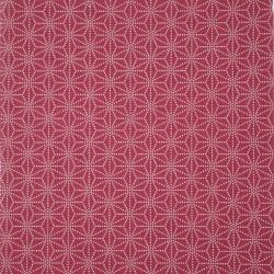 tissu rouge japonais en coton motifs sashiko asanoha fabriqué au Japon largeur 112 cm x 1m