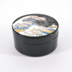boîte à bijoux noire japonaise, NAMI, vague