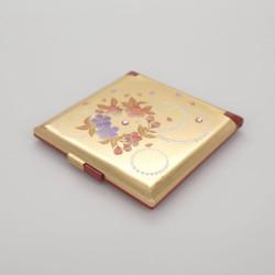 miroir de poche doré, KARIN, fleurs de cerisier
