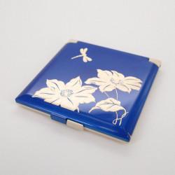 miroir de poche bleu, TOMBO, libellule
