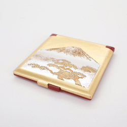 golden pocket mirror, SHIROFUJI, Mount Fuji