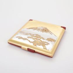 miroir de poche doré, SHIROFUJI, mont fuji