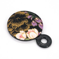 Black pocket mirror, SENSAI, flowers