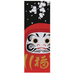 Japanese cotton towel TENUGUI, Daruma SAKURA