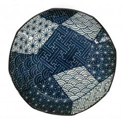 Japanische runde hohle Keramikplatte KPAKM50
