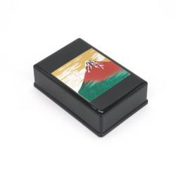 Boîte à bijoux rectangulaire noire japonaise, AKAFUJI, mont fuji