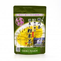 Japanischer grüner Tee in Pulverform, geerntet im Frühjahr FUNMATSUCHA
