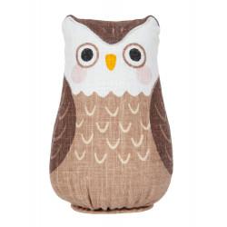 Hand painted hemp doll, FUKURO, Lucky Owl