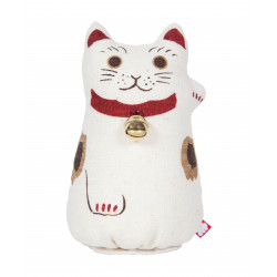 Hand painted hemp doll, MANEKINEKO, Maneki Neko