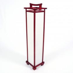 Große japanische Wohnzimmerlampe SHINDEN, rot