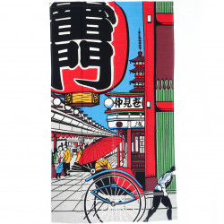 Japanese curtain in rayon 85x150cm NOREN ASAKUSA KAMINARIMON