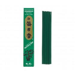 Box of 50 Japanese incense sticks, MORNINGSTAR, cedar scent