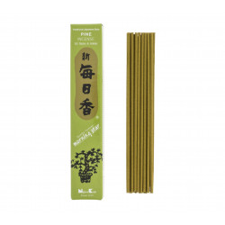 Confezione da 50 bastoncini di incenso giapponese, PINO MORNING STAR, profumo di pino